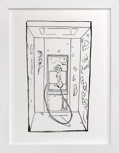 The Phone Booth  Art Print