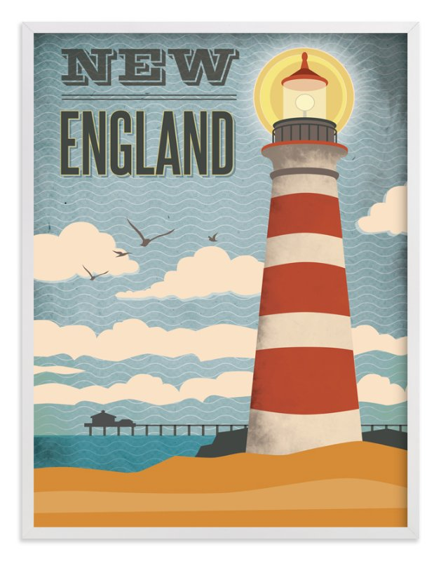 """""""New England"""" - Art Print by Rochelle Renee in beautiful frame options and a variety of sizes."""