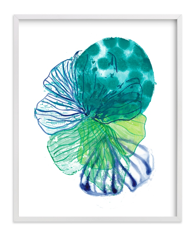 """""""Skeleton Petals 5"""" - Art Print by Maggie Burns in beautiful frame options and a variety of sizes."""
