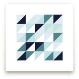 Abstract Mint Blue Tria... by Katrina Lindhorst