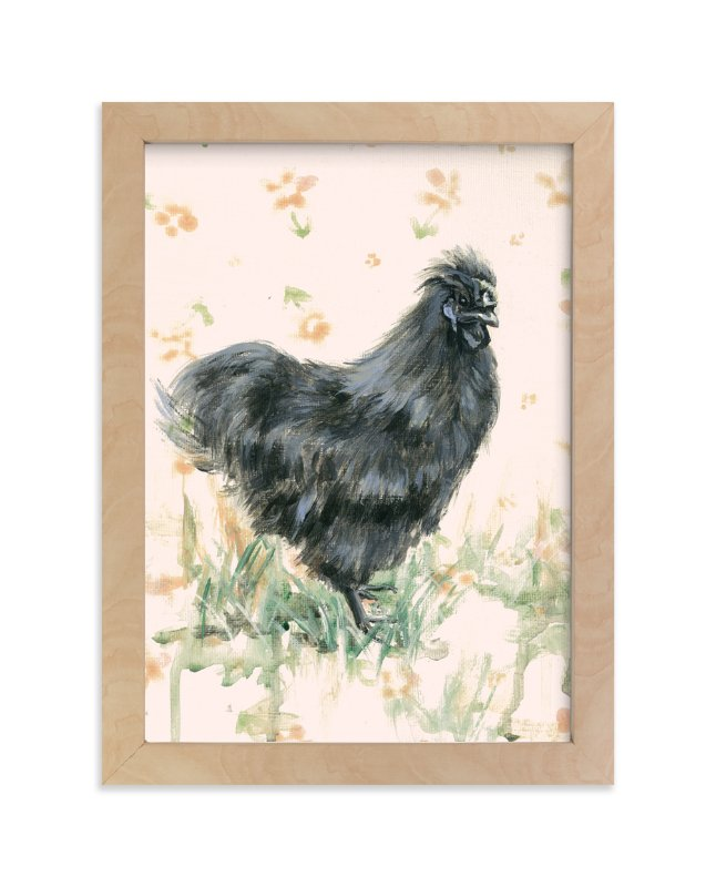 """""""Cecelia Grey"""" - Art Print by Rebecca Weller in beautiful frame options and a variety of sizes."""