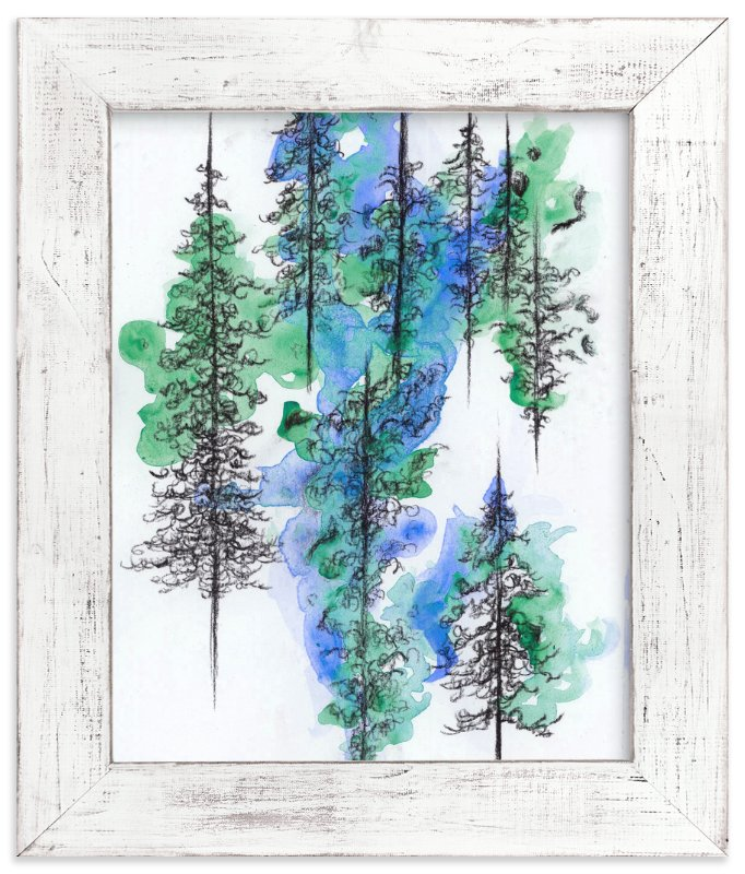 """""""Charcoal Trees 2"""" - Art Print by Emily Magone in beautiful frame options and a variety of sizes."""