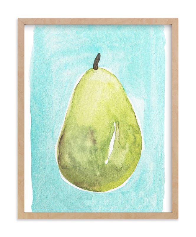 """Watercolor Pear"" - Art Print by Megan Kelso in beautiful frame options and a variety of sizes."