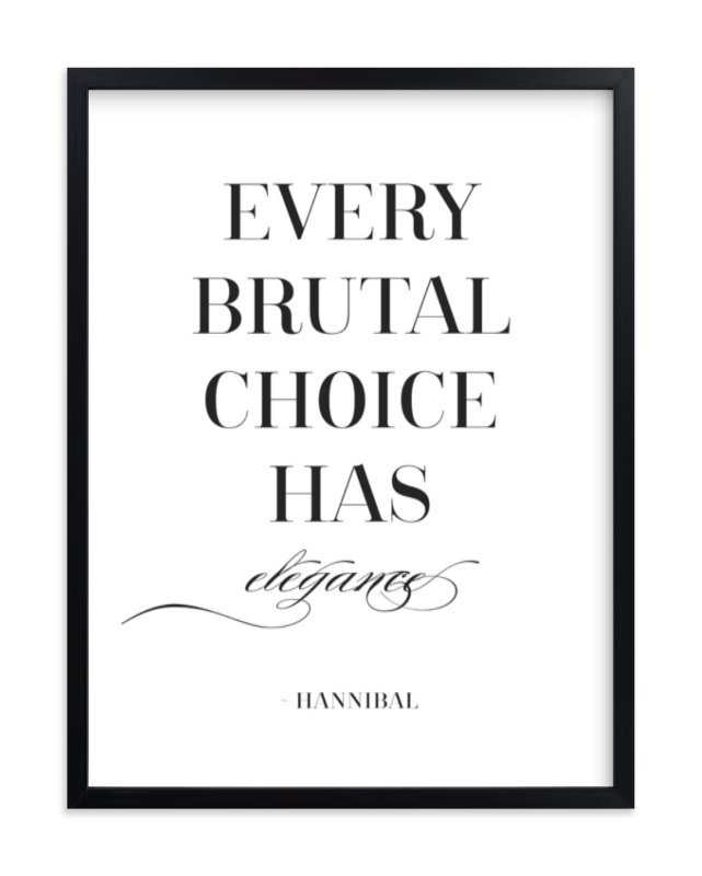 """""""Every Brutal Choice"""" - Art Print by Gray Star Design in beautiful frame options and a variety of sizes."""