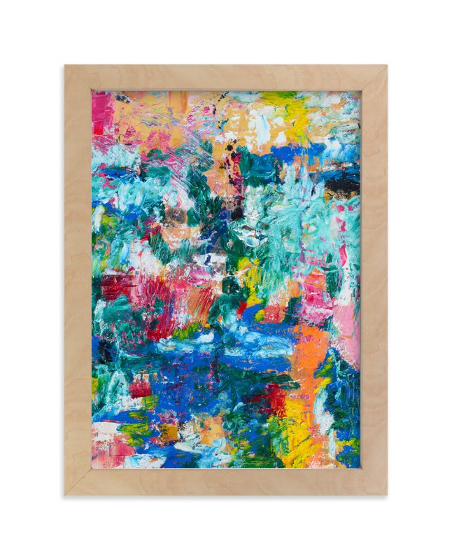 """Impressionist Garden"" - Art Print by Pooja Pittie in beautiful frame options and a variety of sizes."