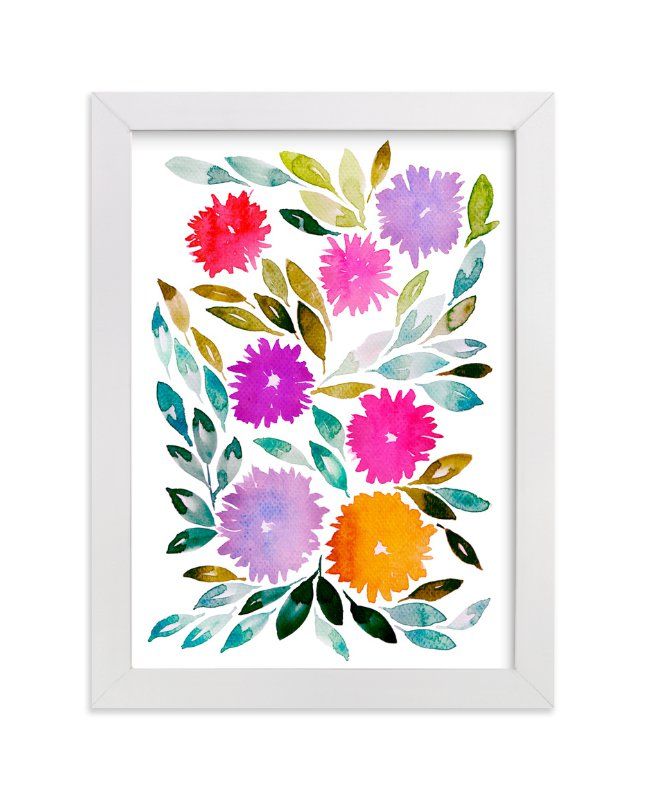 """""""hand painted flowers_2C"""" - Art Print by aticnomar in beautiful frame options and a variety of sizes."""