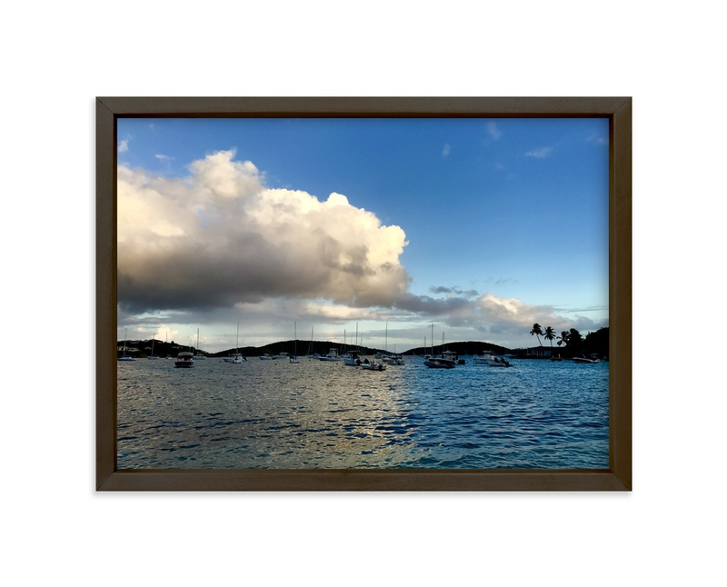 """""""The Boat Yard"""" - Art Print by Hannah Graham in beautiful frame options and a variety of sizes."""