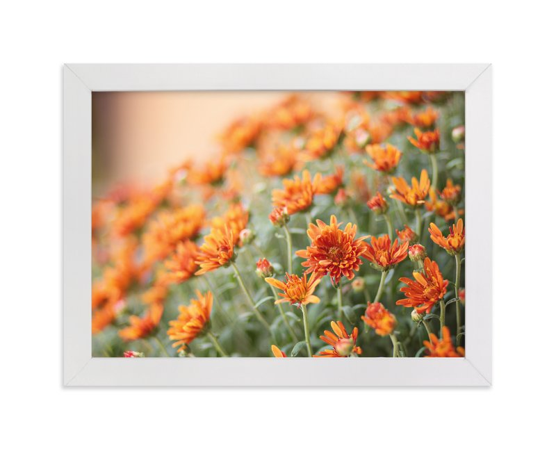 """Fall Mums"" - Art Print by Erin Niehenke in beautiful frame options and a variety of sizes."