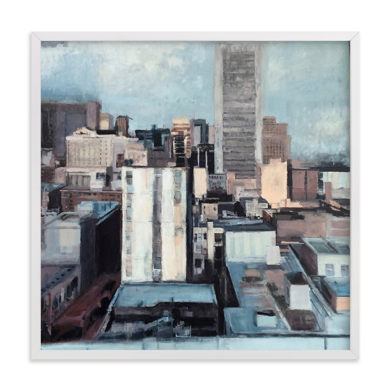 Looking Downtown Marketplace Art Print