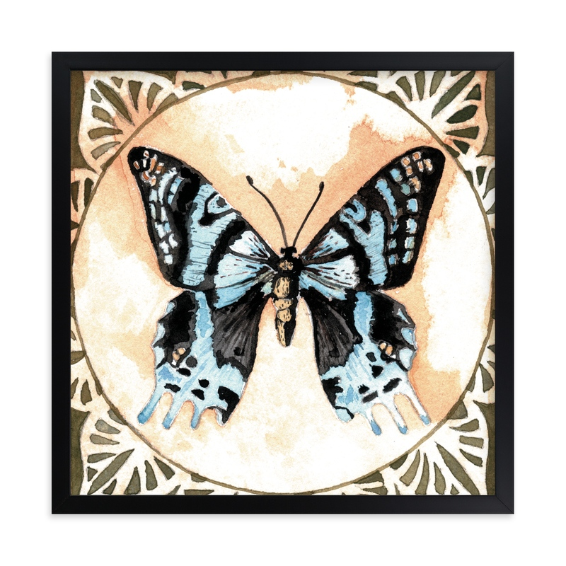 """""""Butterfly Study I"""" - Art Print by Stephanie Toral in beautiful frame options and a variety of sizes."""