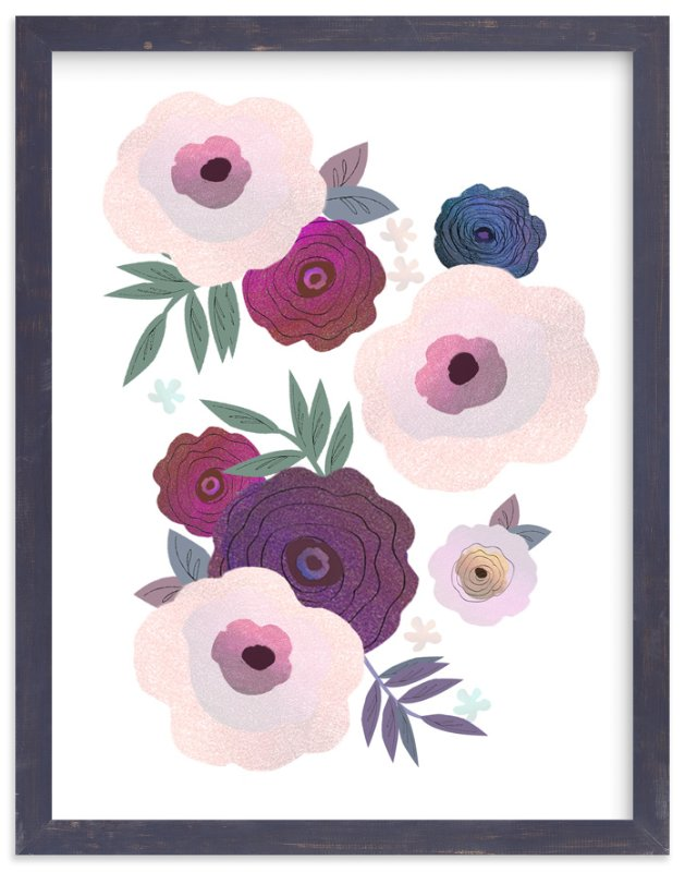 """Delighted"" - Art Print by Alison Jerry Designs in beautiful frame options and a variety of sizes."