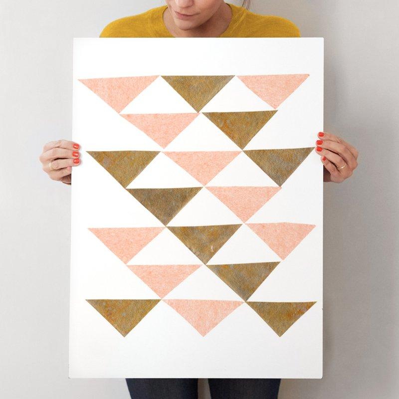 Abstract Muted 2 Mixed Media Art Print By Kelly Nasuta