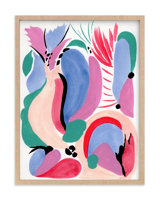 """""""Abstract story"""" - Art Print by FERNANDA MARTINEZ in beautiful frame options and a variety of sizes."""