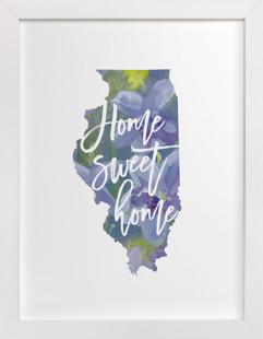 Illinois (Violet)  Art Print