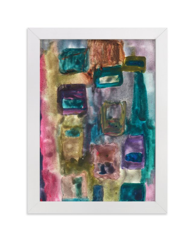 """watercolor abstract1"" - Art Print by aticnomar in beautiful frame options and a variety of sizes."