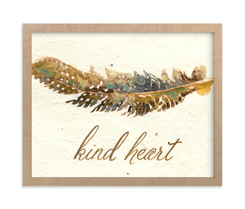 """""""Kind Heart"""" - Art Print by Stephanie Toral in beautiful frame options and a variety of sizes."""