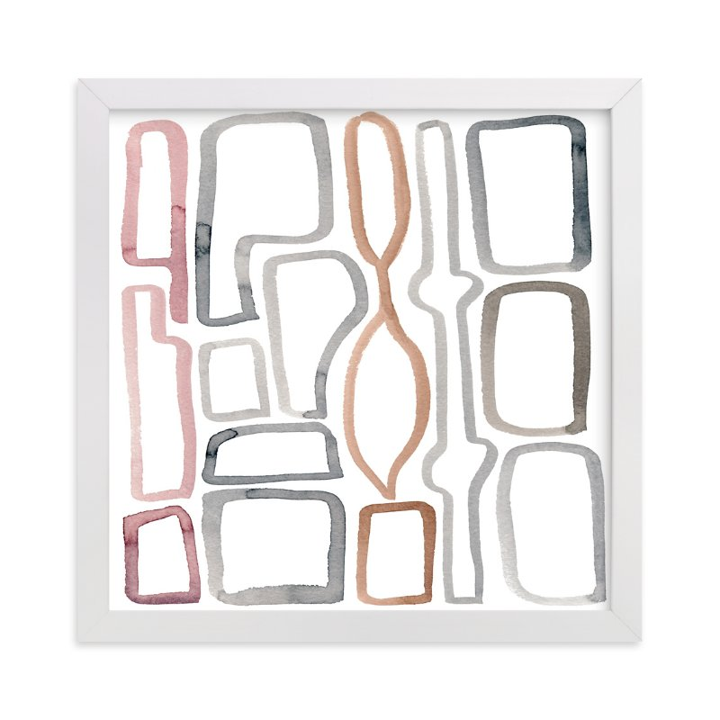 """""""Modern Shapes"""" - Art Print by Kim Johnson in beautiful frame options and a variety of sizes."""