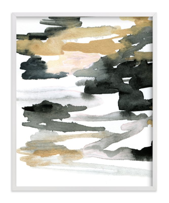 """""""Stormy Sunrise"""" - Art Print by Melanie Severin in beautiful frame options and a variety of sizes."""