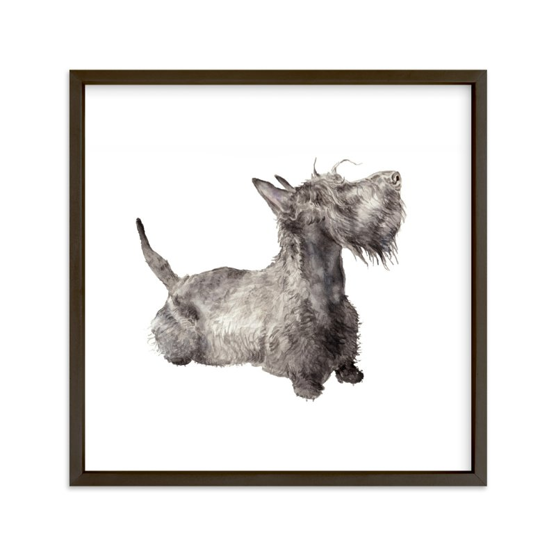 """""""Scottie"""" - Art Print by Lauren Rogoff in beautiful frame options and a variety of sizes."""