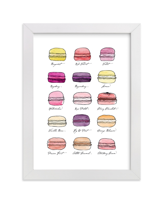 """""""Sweet Macaroons"""" - Art Print by Blixa 6 Studios in beautiful frame options and a variety of sizes."""