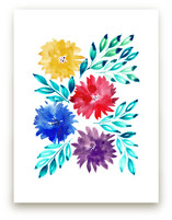 hand painted flowers_2J by aticnomar