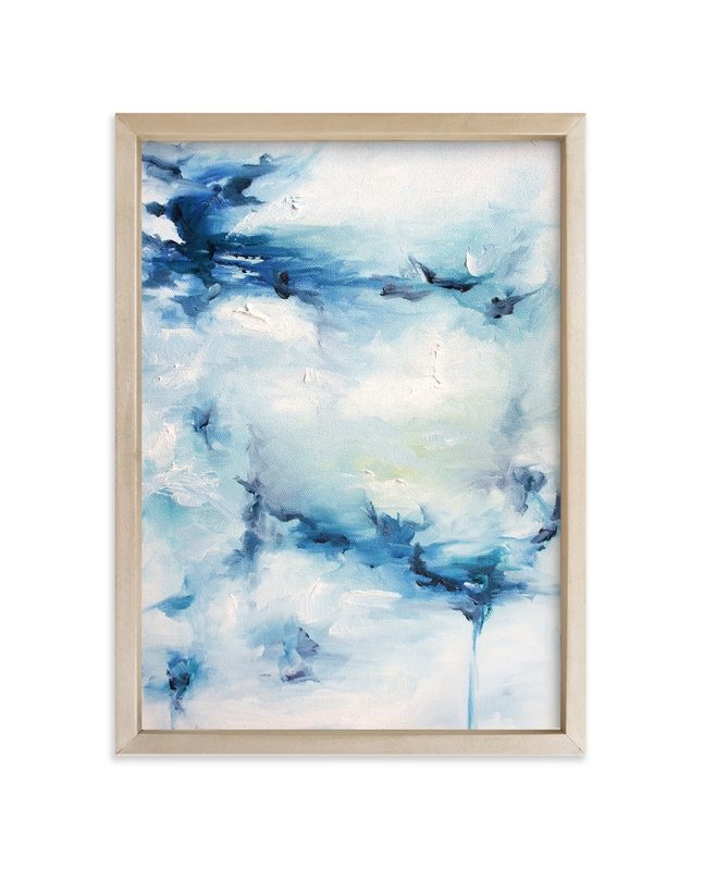 """""""Ocean Poem"""" - Art Print by Nicoletta Savod in beautiful frame options and a variety of sizes."""