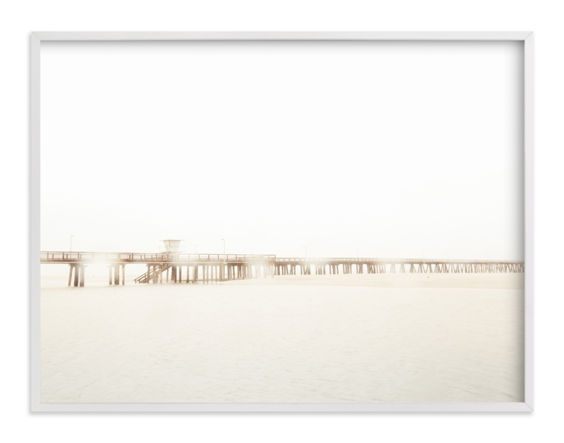 """Stormy Pier 2"" - Art Print by Kamala Nahas in beautiful frame options and a variety of sizes."