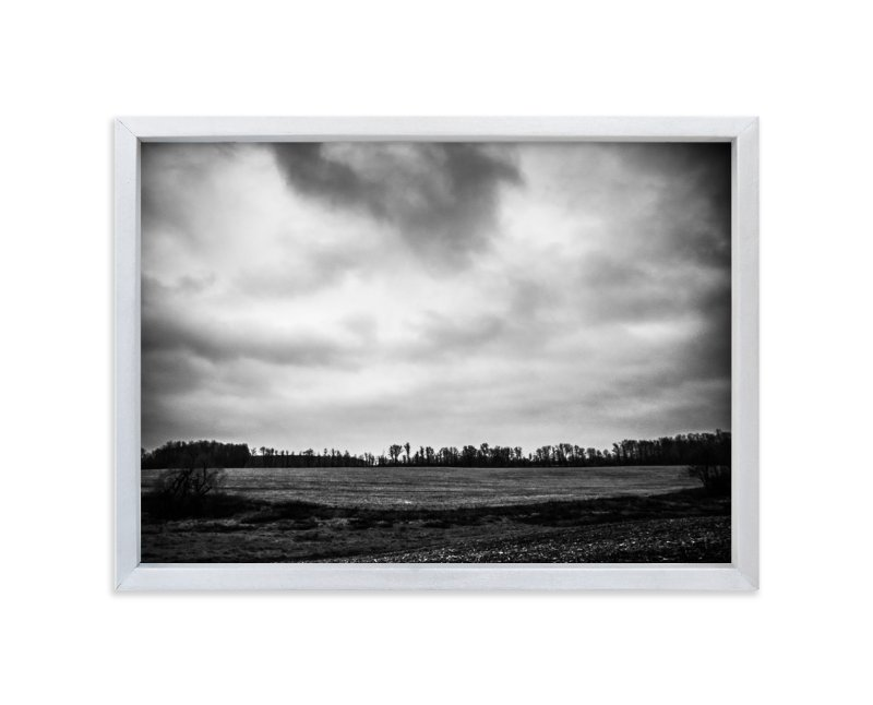 """""""Winter Awaits"""" - Art Print by Kamala Nahas in beautiful frame options and a variety of sizes."""