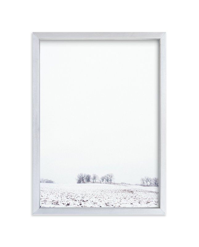 """""""Winter's First Kiss No 2"""" - Art Print by Kamala Nahas in beautiful frame options and a variety of sizes."""