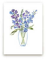 Blue Blooms Wall Art Prints