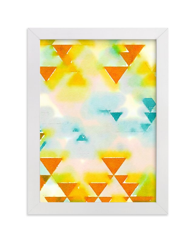 """Abstract Triangle Geometric"" - Art Print by Amy Lighthall in beautiful frame options and a variety of sizes."