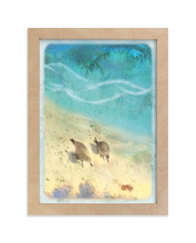 """Shore Birds"" - Art Print by Tracy Ann in beautiful frame options and a variety of sizes."