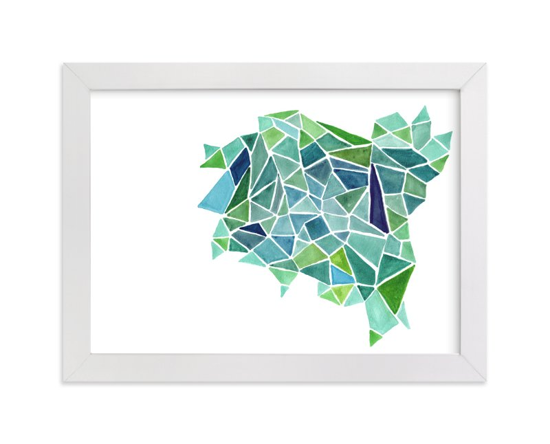 """""""Fragments in Green"""" - Art Print by Cindy Lackey in beautiful frame options and a variety of sizes."""