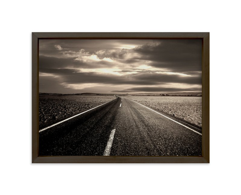 """""""The Spirit Of The Open Road"""" - Art Print by Jerusha in beautiful frame options and a variety of sizes."""