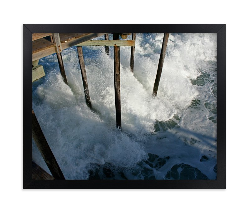 """Crashing Wave"" - Art Print by AJD in beautiful frame options and a variety of sizes."