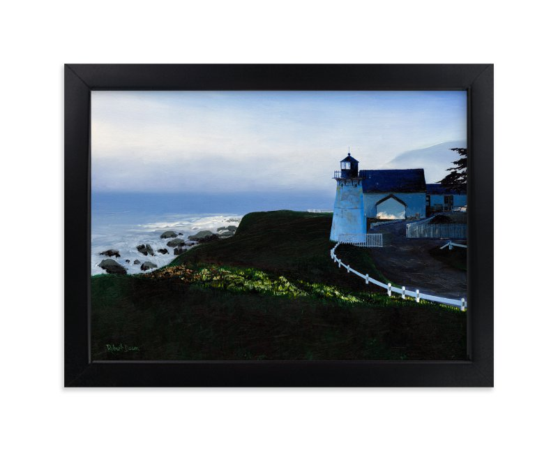 """""""The Light at Point Montara"""" - Art Print by Robert Deem in beautiful frame options and a variety of sizes."""