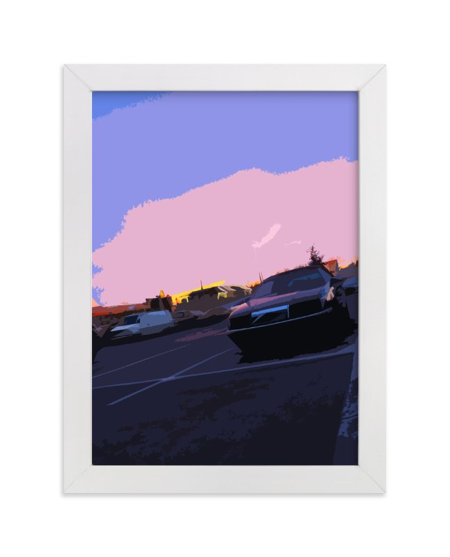 """Parking Lot Sunset"" - Art Print by Jeff Preuss in beautiful frame options and a variety of sizes."