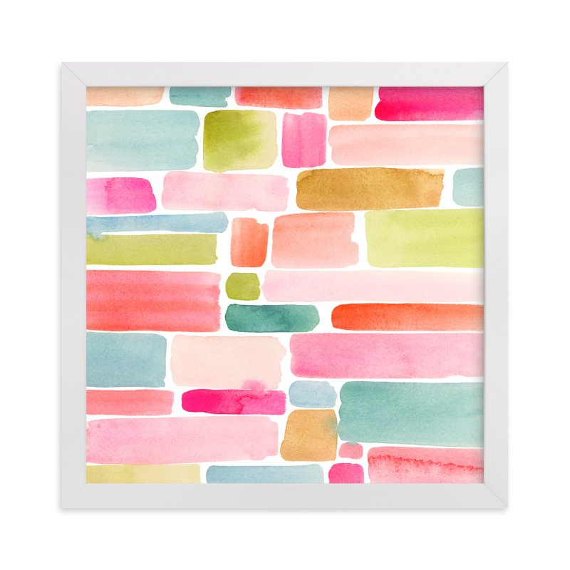 """""""Color Movement II"""" - Art Print by Yao Cheng Design in beautiful frame options and a variety of sizes."""