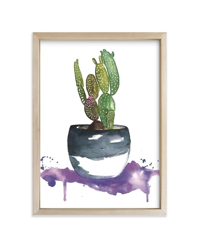 """""""The Potted Cactus"""" - Art Print by Kelsey McNatt in beautiful frame options and a variety of sizes."""