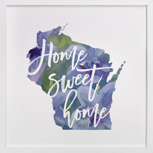 Wisconsin (Violet)  Art Print