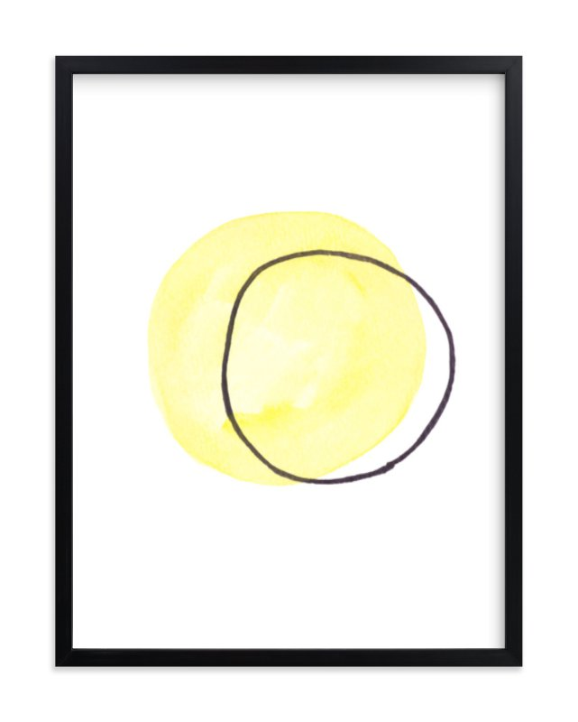 """""""Yellow Ghost"""" - Art Print by Vanessa Rossi Design in beautiful frame options and a variety of sizes."""
