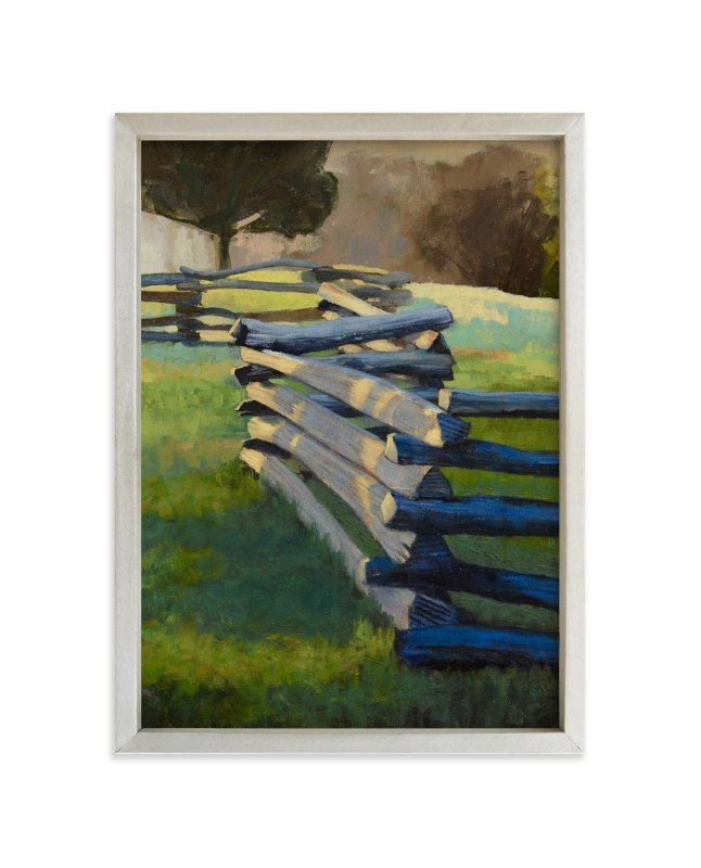 """""""Split Rail"""" - Art Print by Rachel Nelson in beautiful frame options and a variety of sizes."""