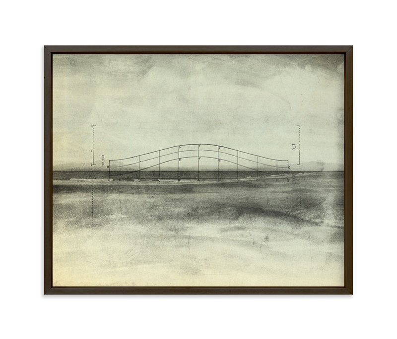 """""""Abstract Diagram #1"""" - Art Print by Field and Sky in beautiful frame options and a variety of sizes."""