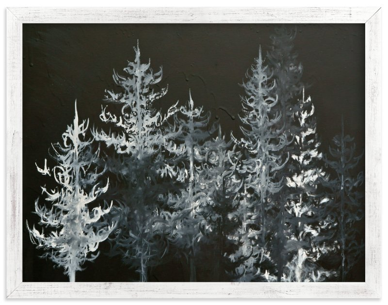 """""""Black Trees"""" - Art Print by Emily Magone in beautiful frame options and a variety of sizes."""