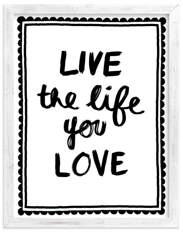 """Live Love"" - Art Print by Kelly Nasuta in beautiful frame options and a variety of sizes."