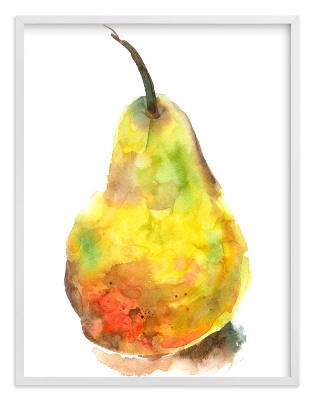 """""""Solo Pear"""" - Art Print by Joseph Weber in beautiful frame options and a variety of sizes."""