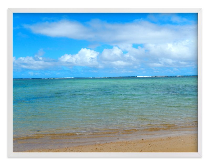 """Calm Hawaii"" - Art Print by Jan Kessel in beautiful frame options and a variety of sizes."