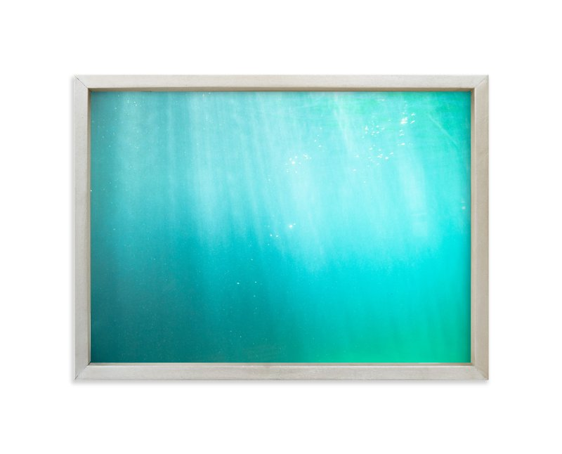 """aqua blue"" - Art Print by van tsao in beautiful frame options and a variety of sizes."