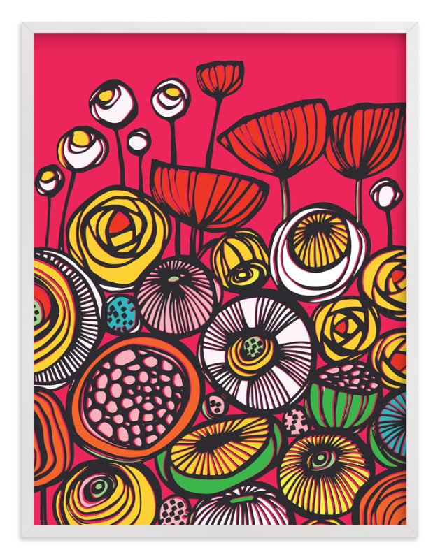 """""""Pop Art Blooms"""" - Art Print by Gill Eggleston in beautiful frame options and a variety of sizes."""