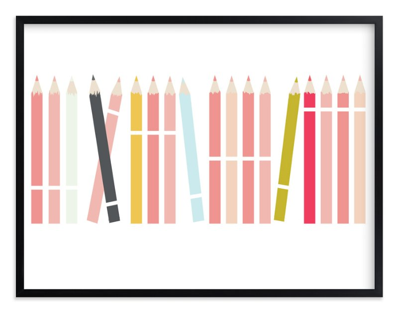 """Colorful Pencils"" - Art Print by Katie Zimpel in beautiful frame options and a variety of sizes."